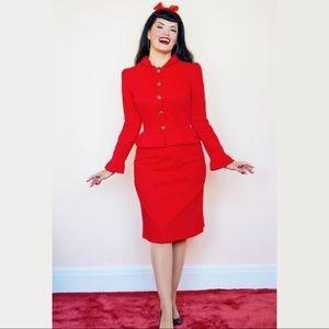 BERNIE DEXTER Red Diana Ltd Edition A-line Skirt